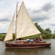 Stock fotografie: Sailing on Hickling Broad Norfolk Broads Norfolk