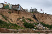 Coastal erosion at Happisburgh Norfolk — Stock Photo