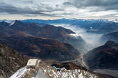 View of Cormayeur from Monte Bianco (Mont Blanc) Italy — ストック写真
