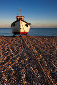 Fishing boat on Dungeness beach — Foto Stock