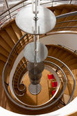 Staircase in the De La Warr Pavilion Bexhill On Sea — Stok fotoğraf