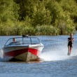 Water skiing at Wiremill Lake East Grinstead — Stock Photo #40686203