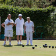 Stock Photo: Lawn bowls match at Colemans Hatch