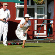 Stock Photo: Lawn bowls match