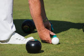Lawn bowls match — Stock Photo