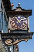 有名なパンティリーズ時計のクローズ アップ ビュー — Stockfoto
