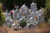 Cemetery in a Cypriot village — Stock Photo