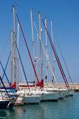 Yachts in the marina at Latchi — Stock Photo