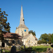 View of Horsted Keynes church on a sunny autumn day — Stock Photo