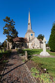 View of Horsted Keynes church on a sunny autumn day — Foto Stock