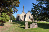 View of Horsted Keynes church on a sunny autumn day — Photo