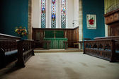 Close-up of part of the interior of Holy Trinity Church Forest Row — Stock Photo