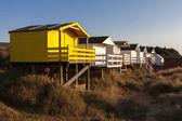 古いハンスタントンのビーチ小屋 — ストック写真