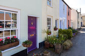 Row of terraced houses in Southwold — Stok fotoğraf