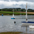 Scenic view estuary River Aln at Alnmouth — Stock Photo #40986025