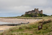 Vew of Bamburgh Castle — Stock Photo