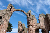 Ruins of Lindisfarne Priory — Stock Photo