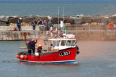 RNLI rescue demonstration at Staithes — ストック写真