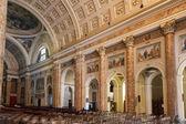 Internal view Basilica of San Nicolo Lecco Italy — Stock Photo