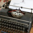 Old Underwood typewriter — Stock Photo
