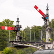 Old railway signals at Horsted Keynes — Stock Photo