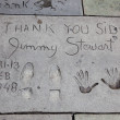 Stock Photo: Jimmy Stewart signature and handprints Hollywood