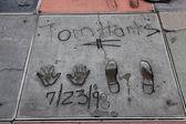 Tom Hanks signature and handprints Hollywood — Stockfoto