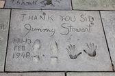 Jimmy Stewart signature and handprints Hollywood — Zdjęcie stockowe