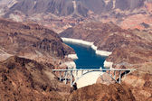 View of the Hoover dam and bridge — Foto de Stock