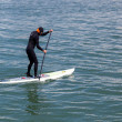 Stock Photo: Paddling surf board out of Sausalito marina
