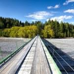 Wooden bridge to Gibson Station — Stock Photo