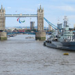 Stock Photo: HMS Belfast and Tower Bridge