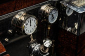 Dials and guages on an old Rolls Royce — Stock Photo