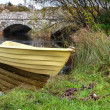Stock Photo: Yellow rowing boat