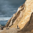 Stock Photo: People on Alum Bay beach Isle of Wight