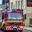 Fire engine on a shout in Conwy — Stock Photo