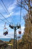 Chairlift to Alum Bay and the Needles — Stock Photo