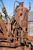 Rusty old steam crane — Stok fotoğraf