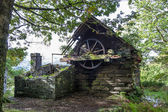 Derelict building in the old slate mine at LLanberis — Stockfoto