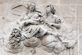 Allegorical sculpture on the pedestal of the Monument — Stock Photo
