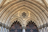 Entrance to Ely cathedral — Stockfoto