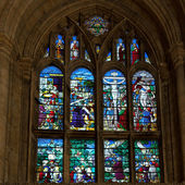Stained glass window Ely Cathedral — Stock Photo