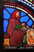 Detail z části obarví-skleněná okna v katedrále ely — Stock fotografie