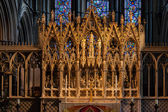 An altar in Ely Cathedral — 图库照片