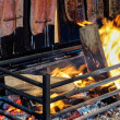 Stock Photo: Flame grilled salmon