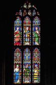 Stained glass window at Ely Cathedral — 图库照片