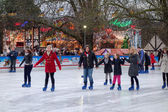 Ice skating in Hyde Park — Stock Photo