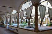Old convent in Pienza now an hotel — Stock Photo