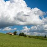 Farmland in Val d'Orcia Tuscany — Stock Photo #41568959