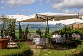 View from a restaurant in Pienza — Stockfoto
